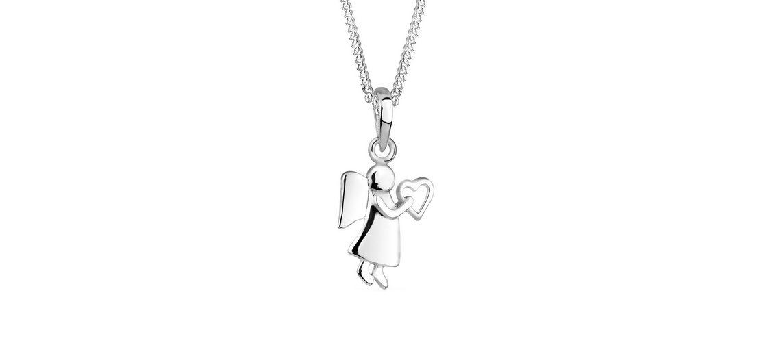 Elli Halskette »Engel Herz 925 Sterling Silber«