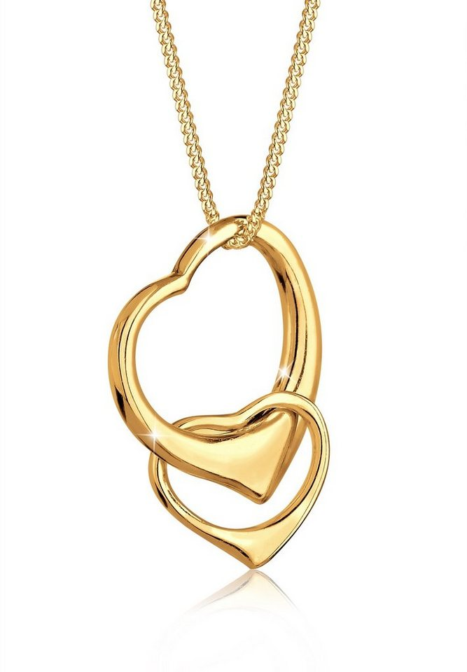 Goldhimmel Halskette »Herzen Verschlungen 925er Sterling Silber« in Gold