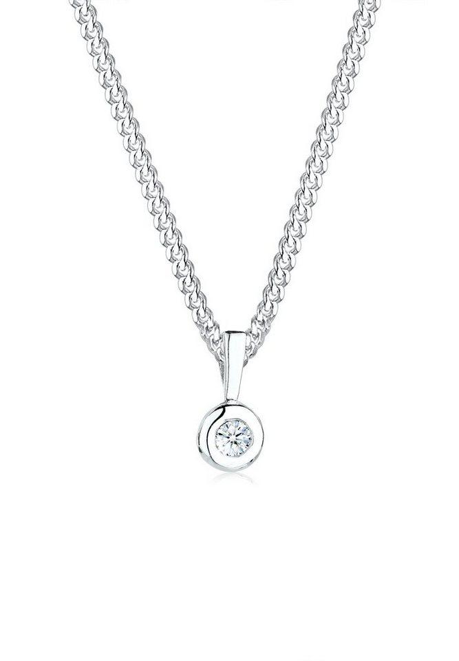 Diamore Halskette »Kreis Diamant 925 Sterling Silber« in Silber
