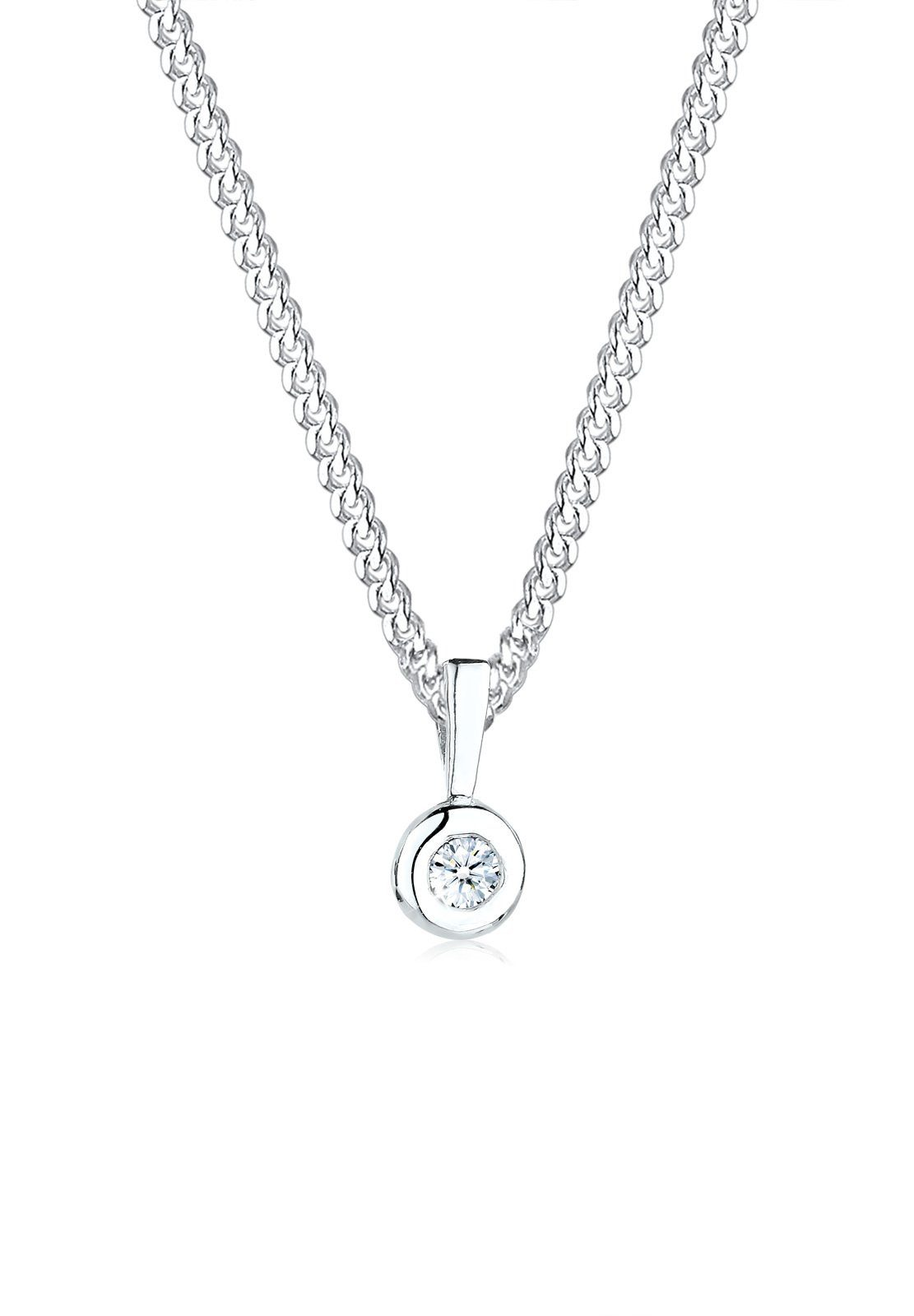 Diamore Halskette »Kreis Diamant 925 Sterling Silber«