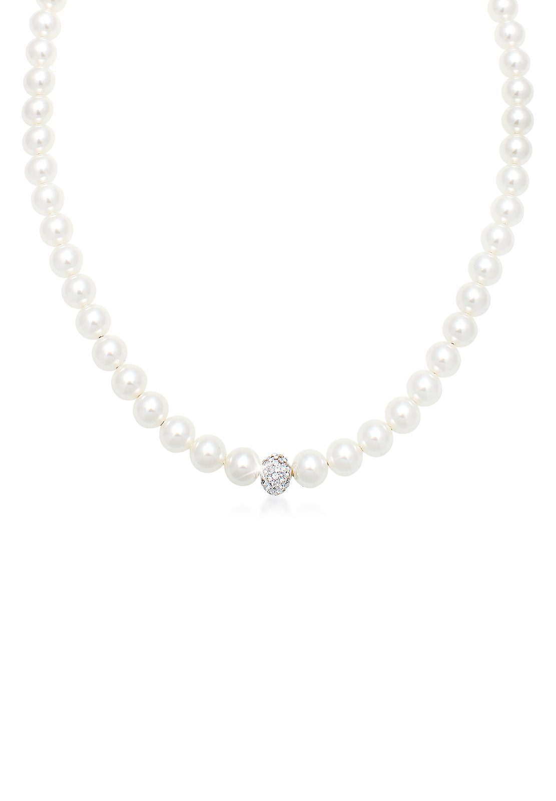 Elli Halskette »Perlenkette Swarovski® Kristalle Sterling Silber«