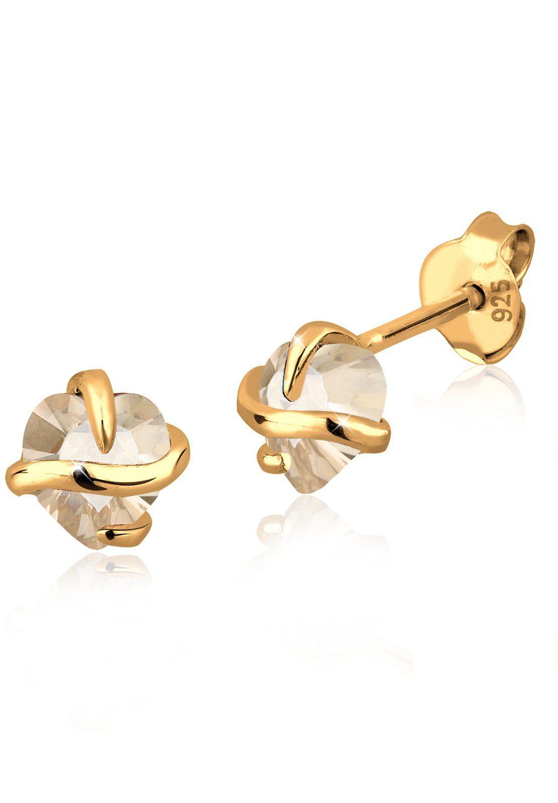 Goldhimmel Ohrringe »Stecker Swarovski® Kristalle 925 Sterling Silber«