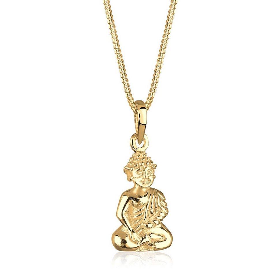 Goldhimmel Halskette »Buddha 925 Sterling Silber vergoldet« in Gold