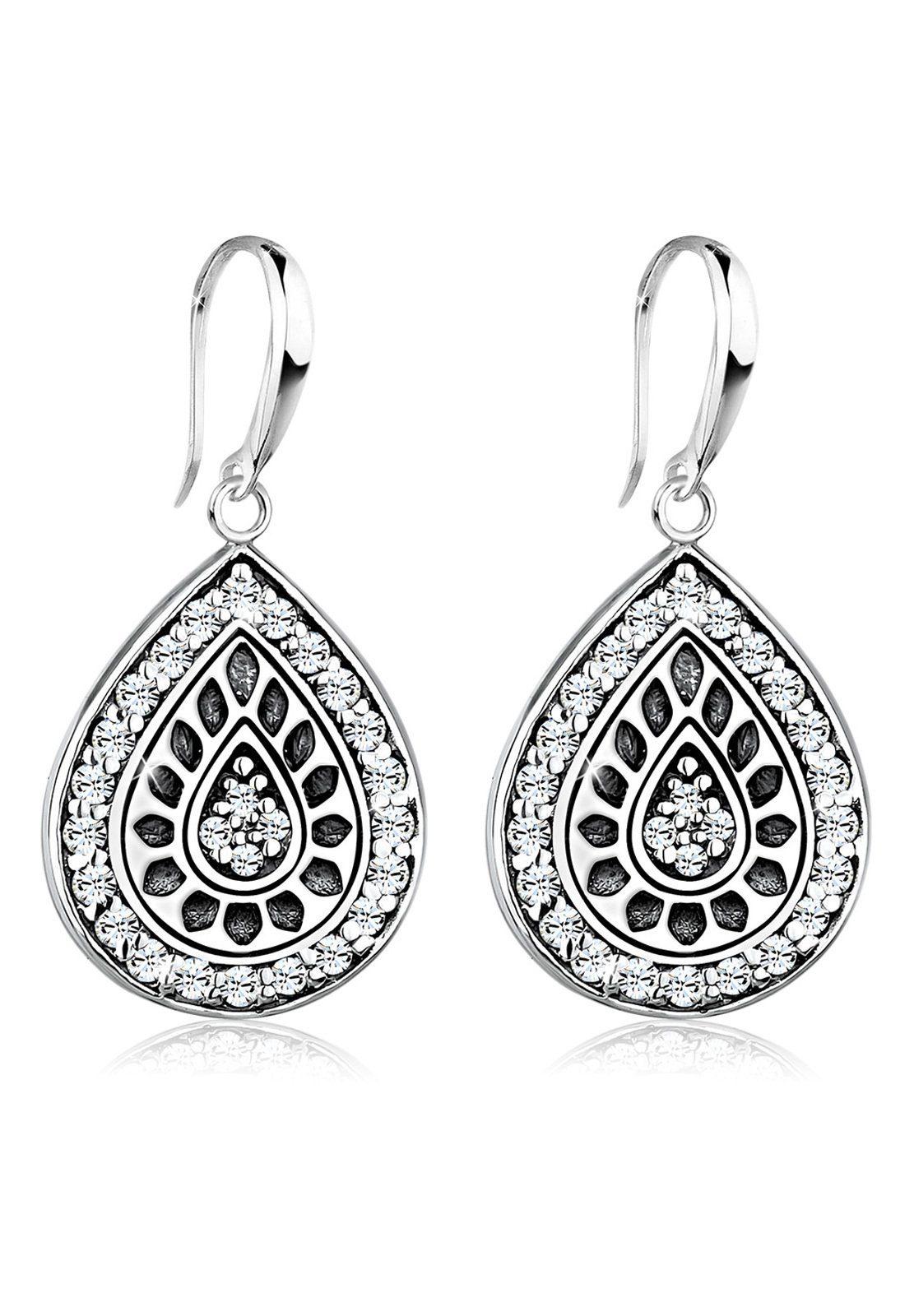 Elli Ohrringe »Tropfen Swarovski® Kristalle Vintage 925 Silber«