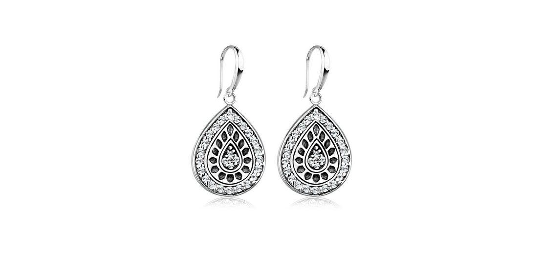 Elli Ohrringe »Tropfen Swarovski Kristalle 925 Sterling Silber«