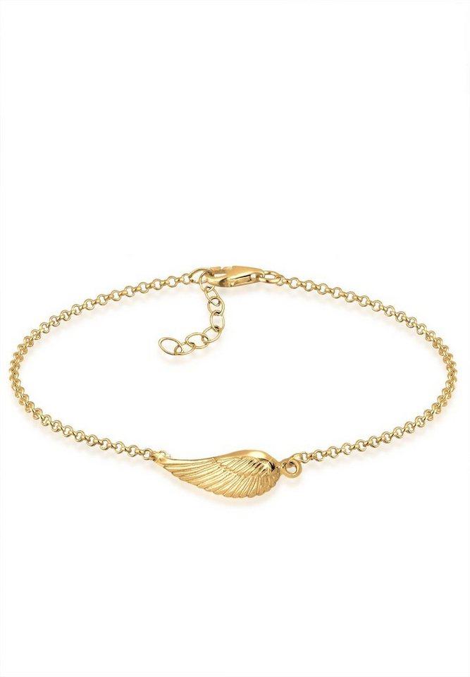 Goldhimmel Armband »Flügel 925 Sterling Silber vergoldet« in Gold