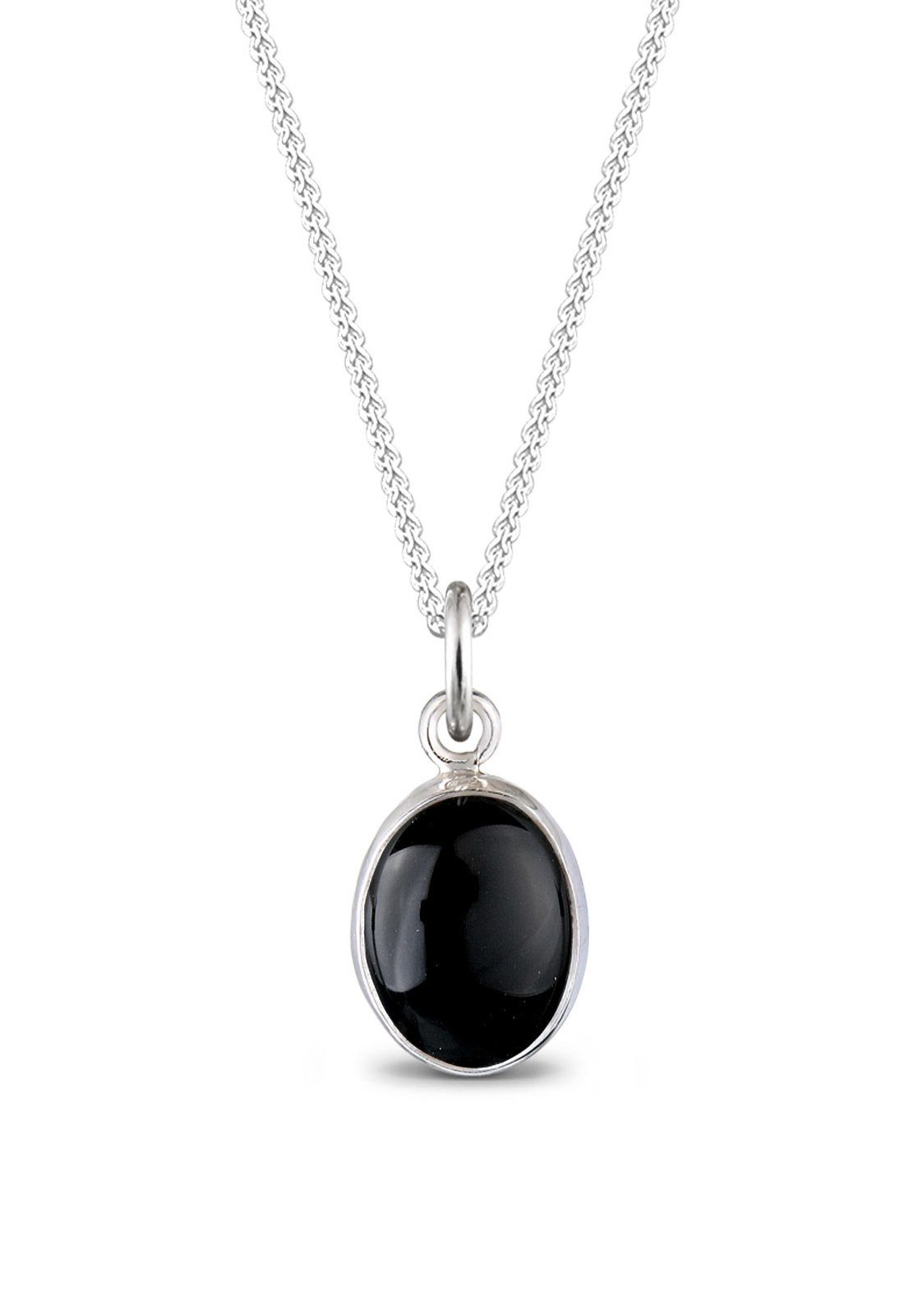 Elli Halskette »Edelstein Onyx schwarz 925 Sterling Silber«