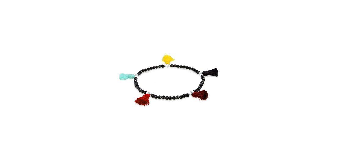 Elli Armband »Tassel Edelstein Onyx 925 Sterling Silber«