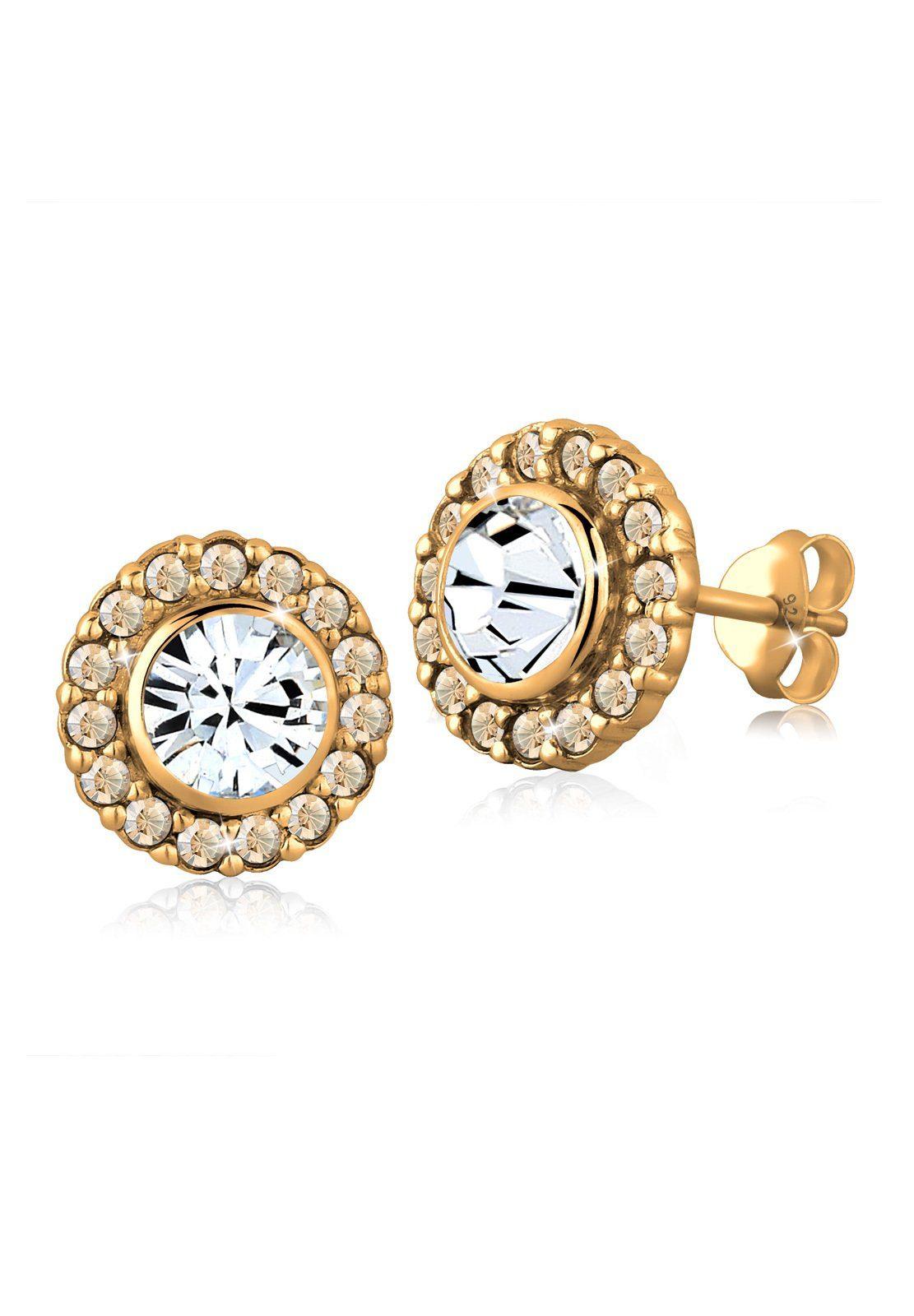 Goldhimmel Ohrringe »Swarovski® Kristalle 925 Sterling Silber«