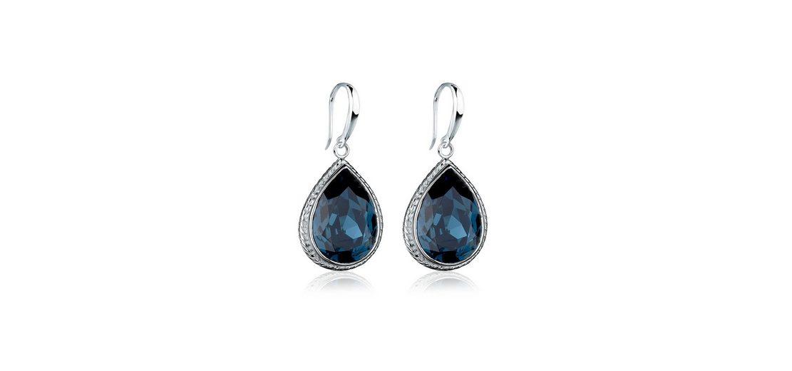Elli Ohrringe »925 Sterling Silber Tropfen Swarovski Kristall«