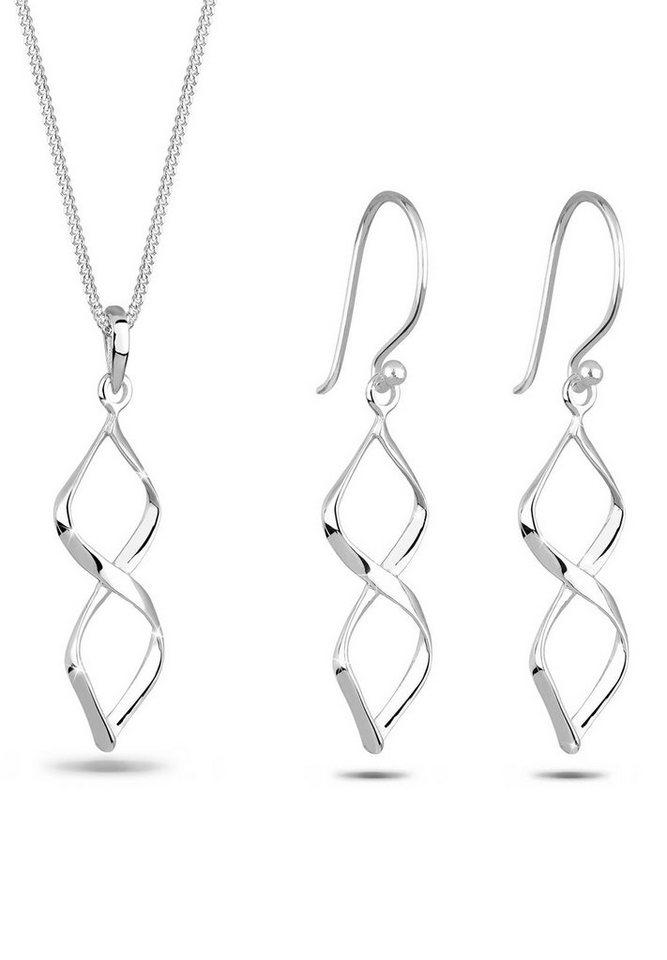Elli Set: Schmuckset »Spirale 925 Sterling Silber« 2 tlg. in Silber