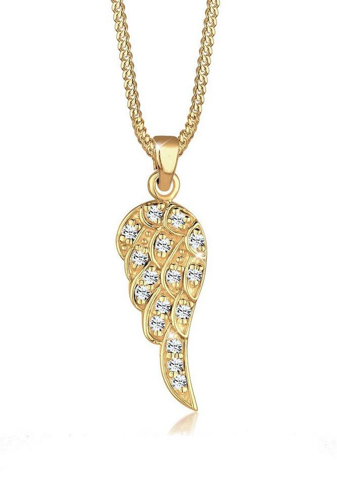 Goldhimmel Halskette »Flügel Swarovski® Kristalle 925 Sterling Silber« in Gold