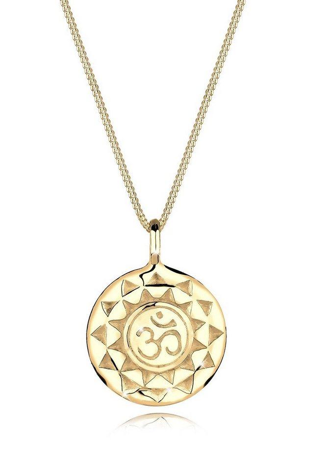 Goldhimmel Halskette »Talisman Om 925 Sterling Silber vergoldet« in Gold