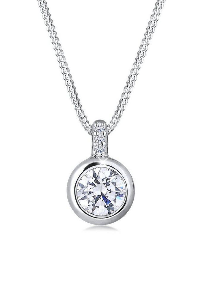 Elli Halskette »Zirkonia 925 Sterling Silber« in Weiß