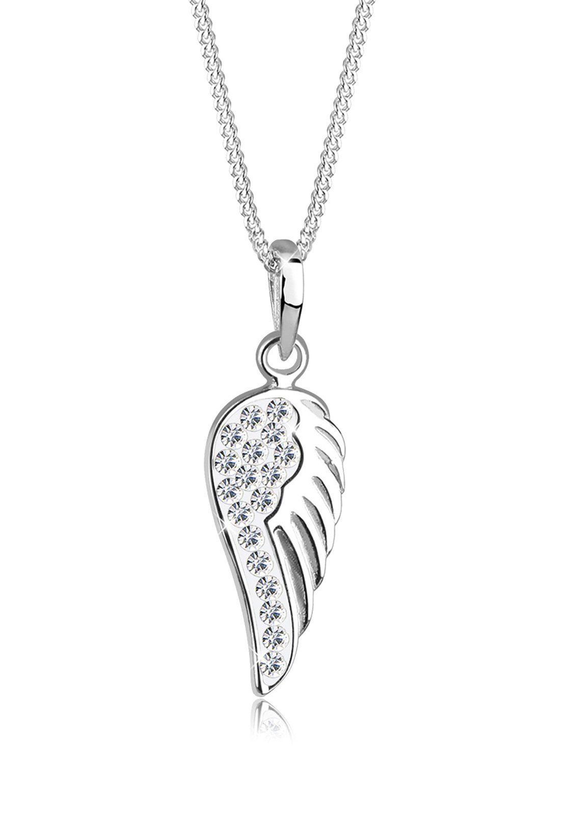 Elli Halskette »Engelsflügel Swarovski® Kristalle Sterling Silber«