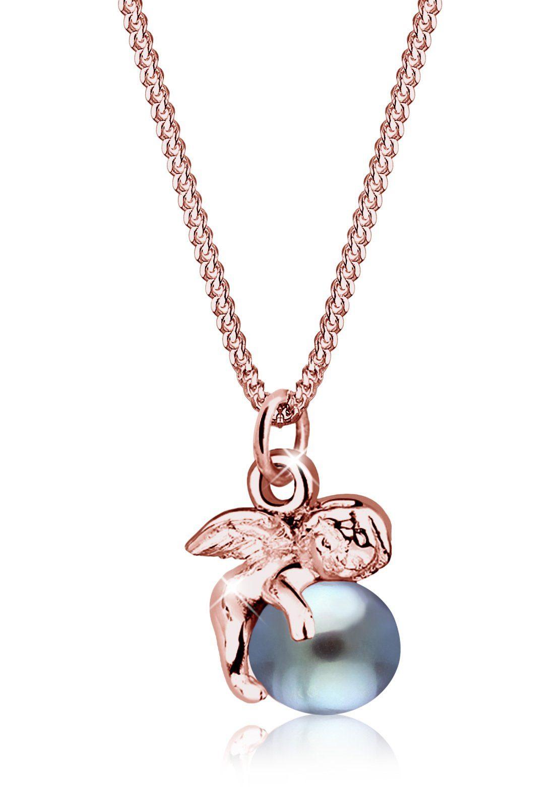 Elli Halskette »925 Sterling Silber Süßwasserzuchtperle«