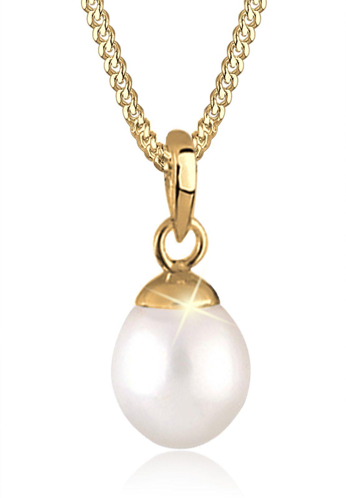 Goldhimmel Halskette »Kugel Süßwasserzuchtperle 925 Silber vergoldet«