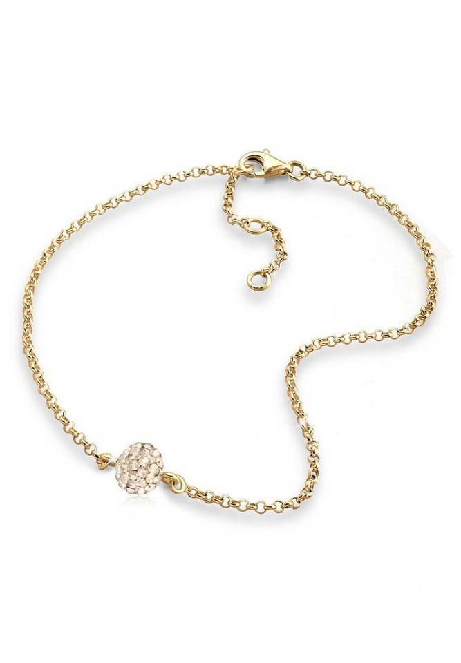 Goldhimmel Fußschmuck »Kugel Swarovski® Kristalle 925 Sterling Silber« in Gold