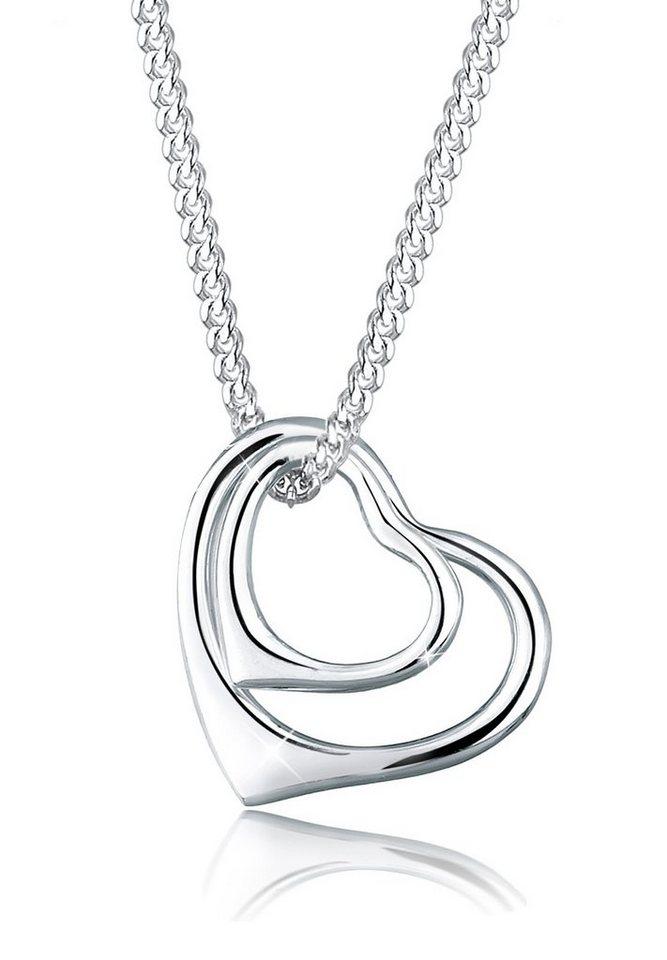 Elli Halskette »Herzen 925 Sterling Silber« in Silber