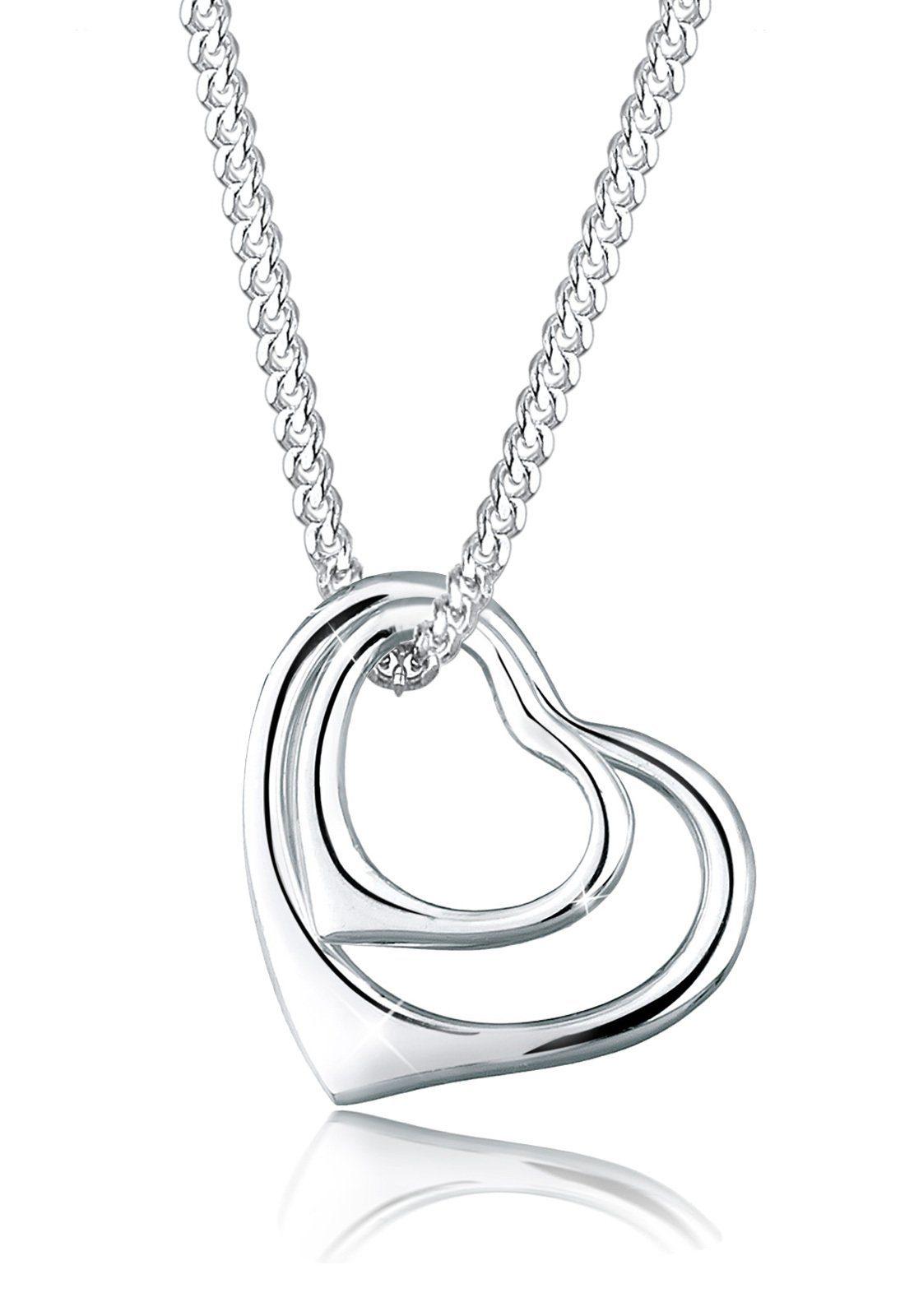 Elli Halskette »Herzen Filigran 925 Sterling Silber«
