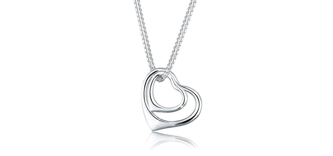 Elli Halskette »Herzen 925 Sterling Silber«