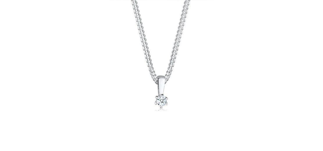 Diamore Halskette »Kreis Diamant Kette 925 Sterling Silber«