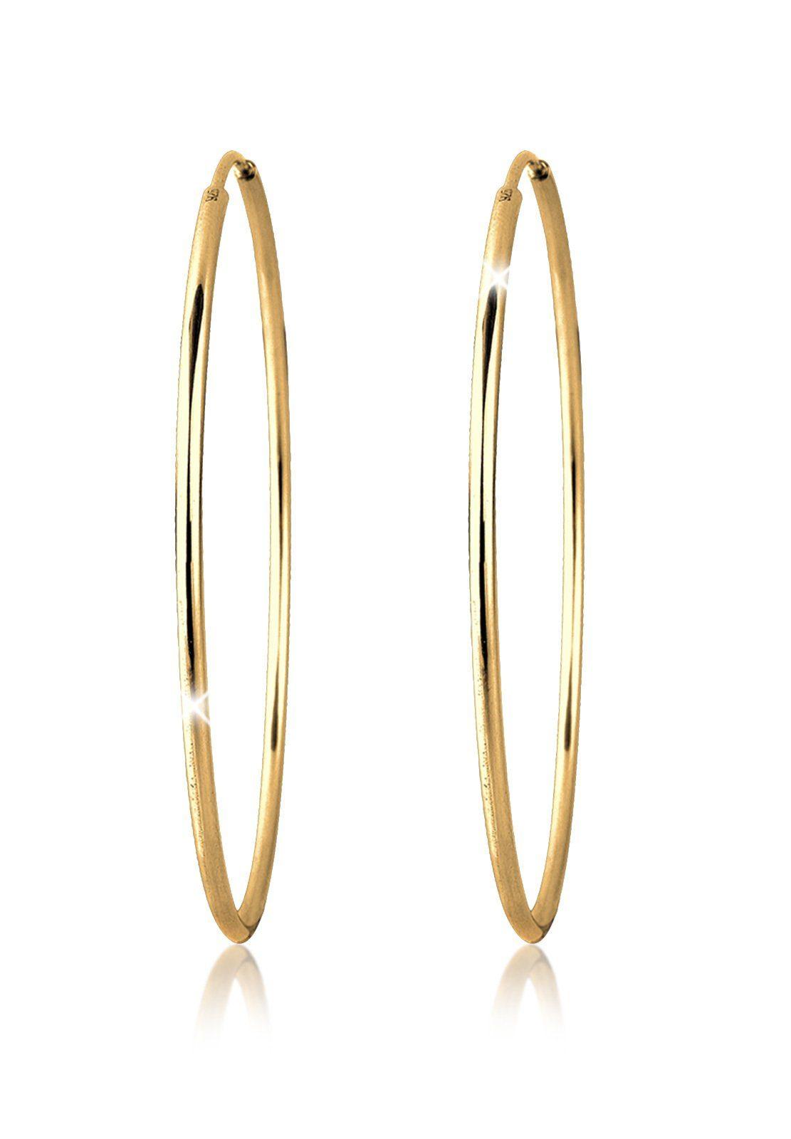 Goldhimmel Ohrringe »Creolen Basic 925 Silber vergoldet«