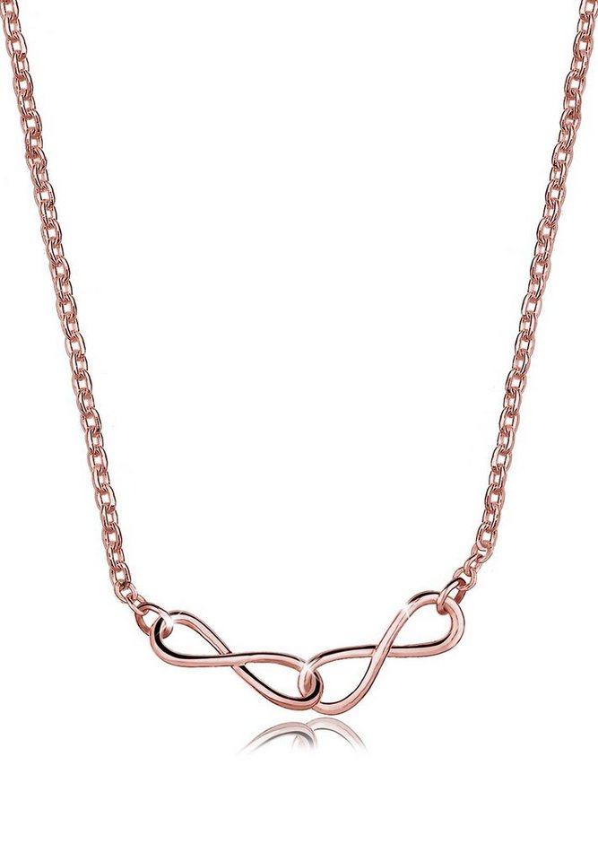 Elli Halskette »Infinity 925 Sterling Silber ROSÉGOLD« in Rosegold