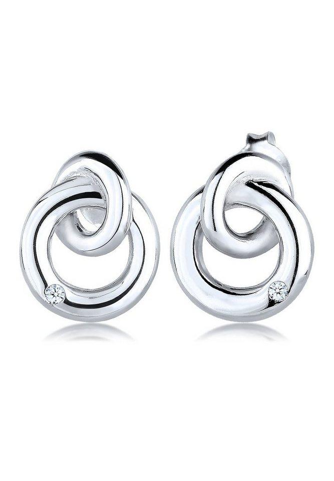 Diamore Ohrringe »Kreis Klassisch Diamant Elegant 925 Silber« in Weiß