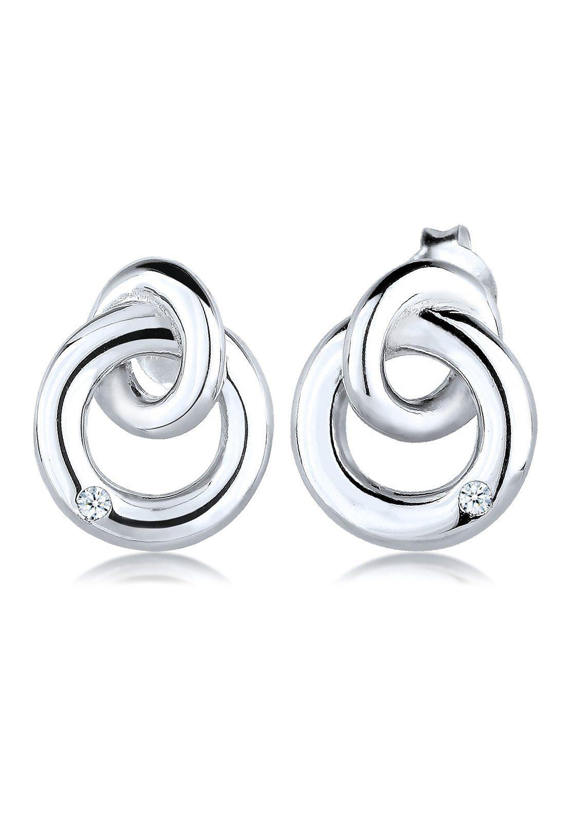 Diamore Ohrringe »Kreis Klassisch Diamant Elegant 925 Silber«