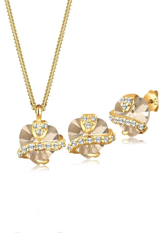 Goldhimmel Set: Schmuckset »Swarovski® Kristalle 925 Sterling Silber« 2 tlg. in Gold