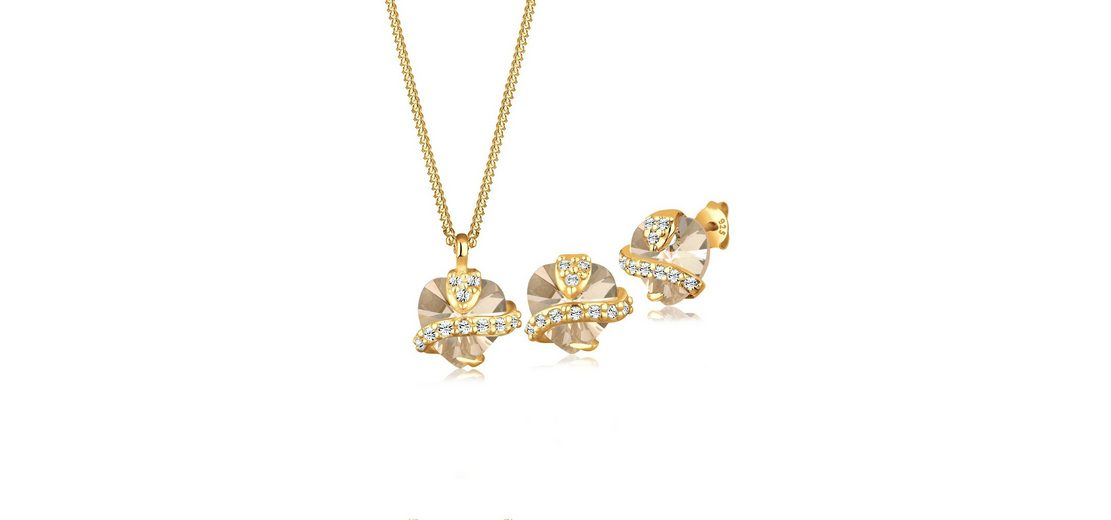 Goldhimmel Set: Schmuckset »Liebe Swarovski® Kristalle 925 Sterling Silber« 2 tlg.