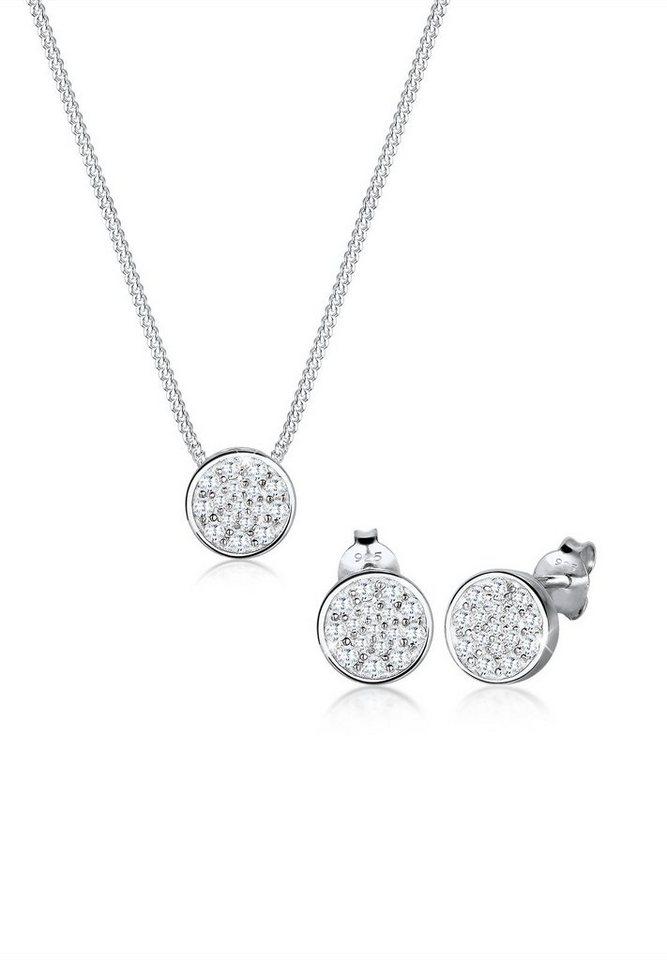 Elli Set: Schmuckset »Zirkonia 925 Sterling Silber« 2 tlg. in Silber