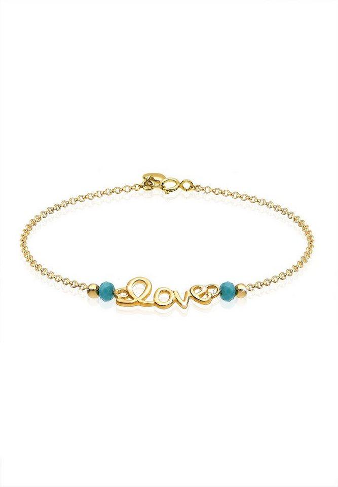 Goldhimmel Armband »Love-Schriftzug 925 Sterling Silber vergoldet« in Gold
