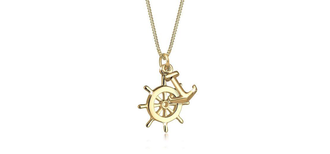 Goldhimmel Halskette »Steuerrad Anker 925 Sterling Silber vergoldet«