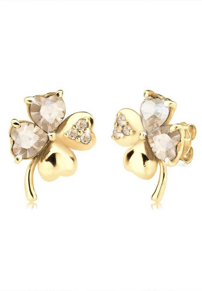 Goldhimmel Ohrringe »Klee Swarovski® Kristalle 925 Sterling Silber« in Gold