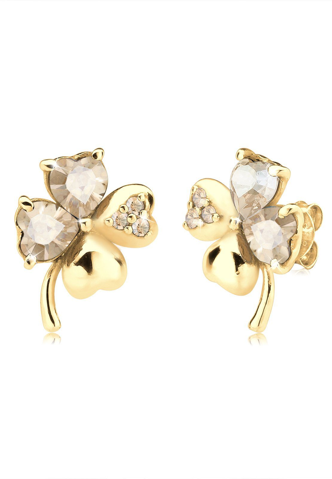 Goldhimmel Ohrringe »Klee Swarovski® Kristalle 925 Sterling Silber«