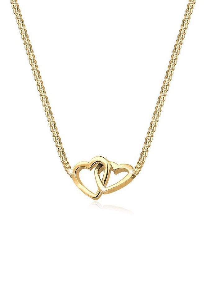Goldhimmel Halskette »Herz 925 Sterling Silber vergoldet« in Gold