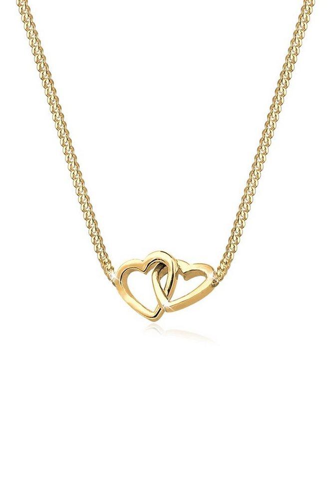 Goldhimmel Halskette »Herzen Verschlungen 925 Sterling Silber vergoldet« in Gold