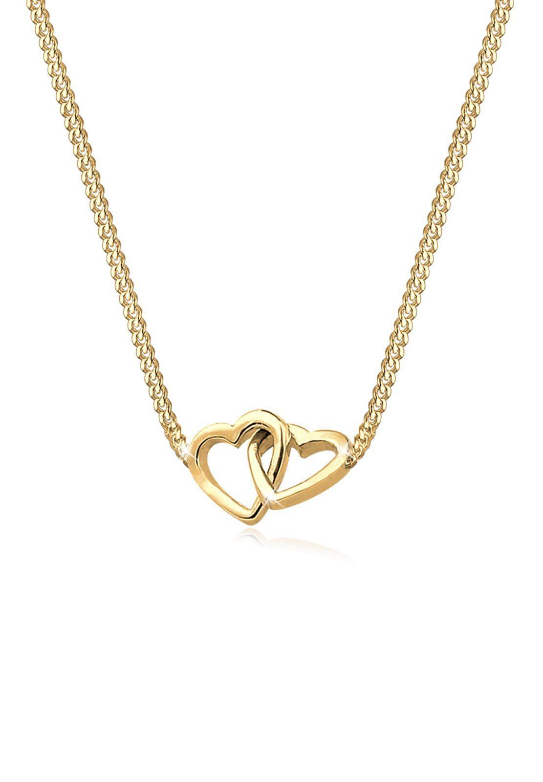 Goldhimmel Halskette »Herzen Verschlungen 925 Sterling Silber vergoldet«