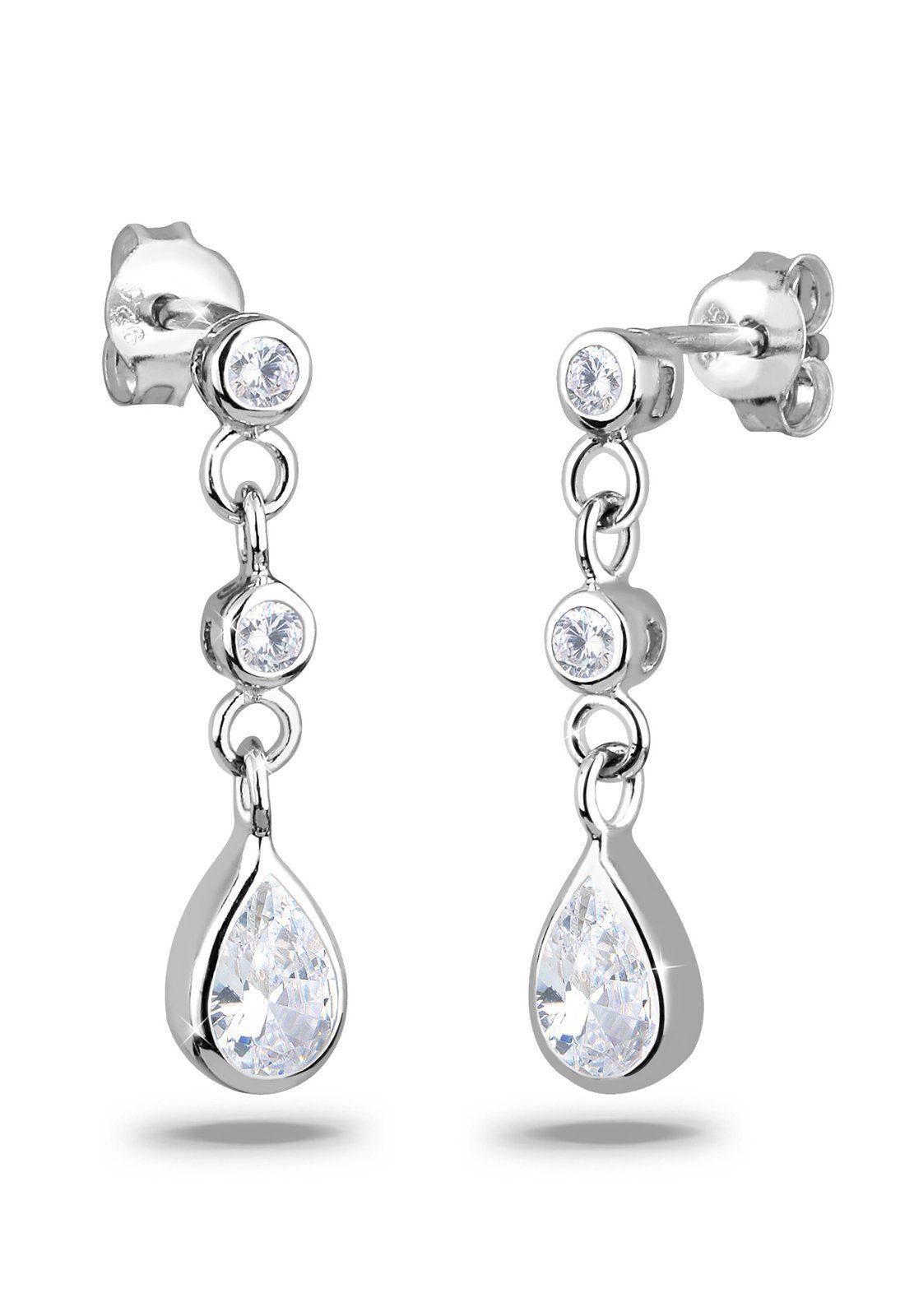 Elli Ohrringe »Tropfen Zirkonia Elegant Funkelnd 925 Silber«