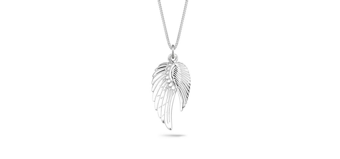 Elli Halskette »Doppel-Flügel 925 Sterling Silber«