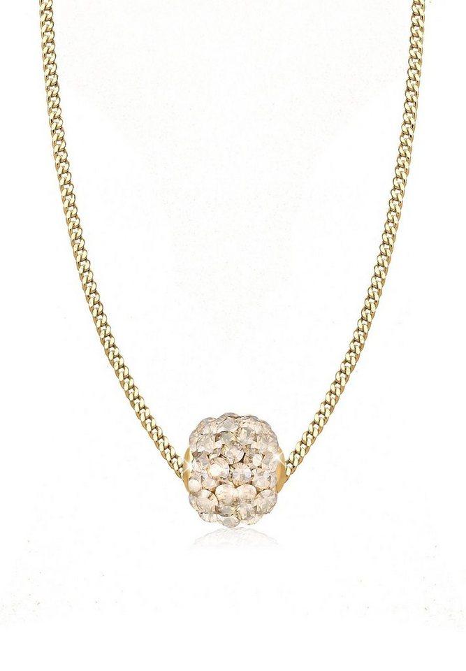 Goldhimmel Halskette »Kugel Swarovski® Kristalle 925 Sterling Silber« in Gold