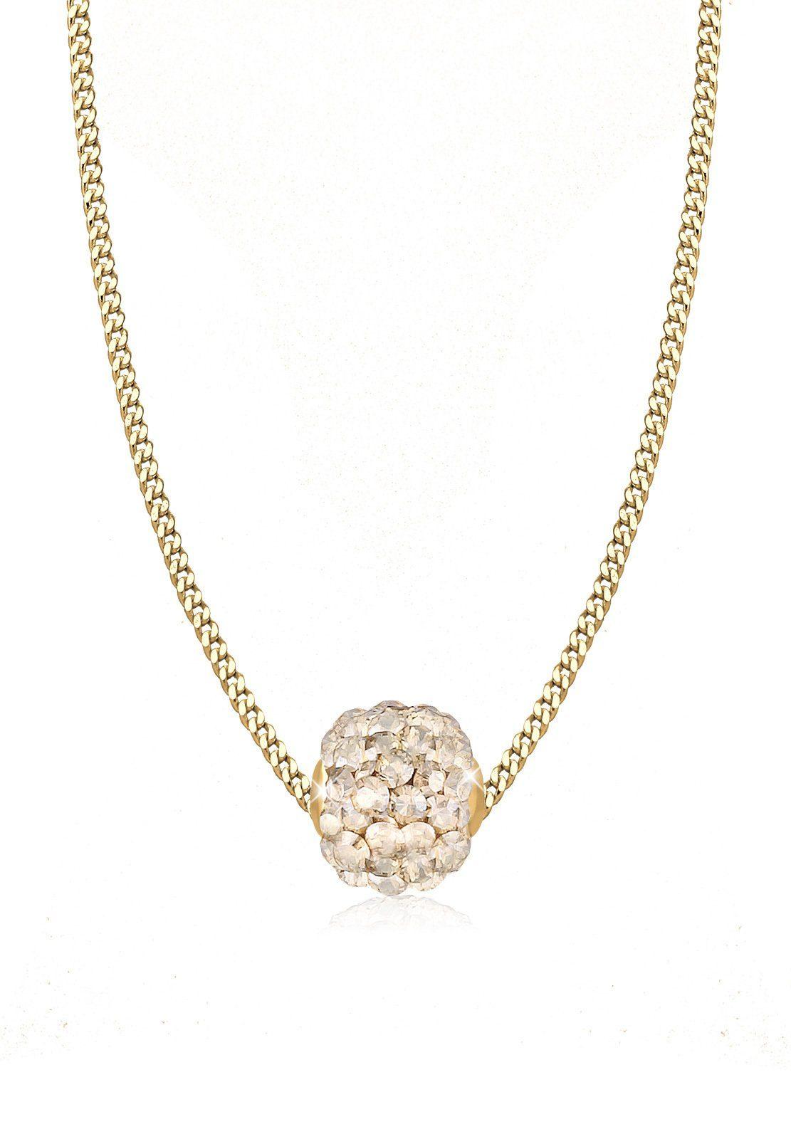 Goldhimmel Halskette »Kugel Swarovski® Kristalle 925 Sterling Silber«