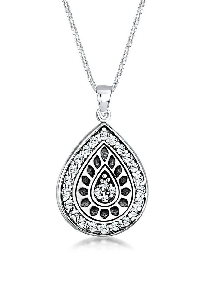 Elli Halskette »Chakra Swarovski Kristalle® 925 Sterling Silber« in Silber