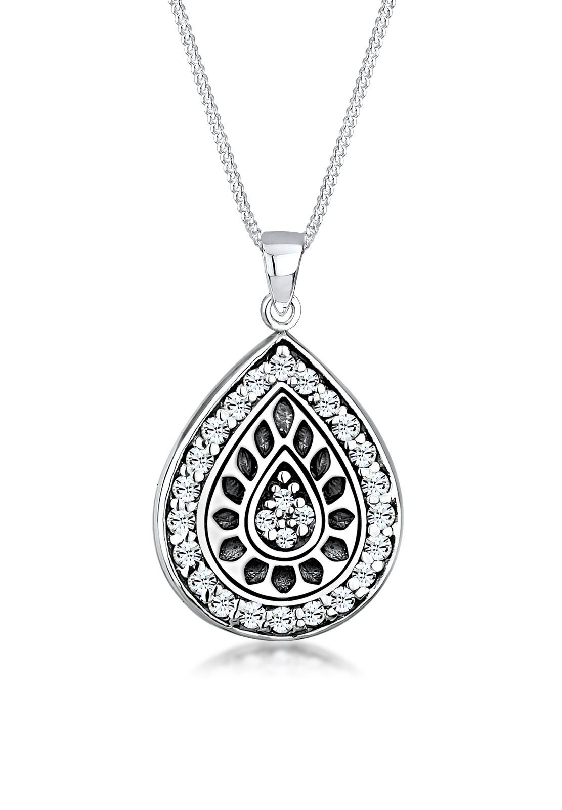 Elli Halskette »Chakra Swarovski Kristalle® 925 Sterling Silber«
