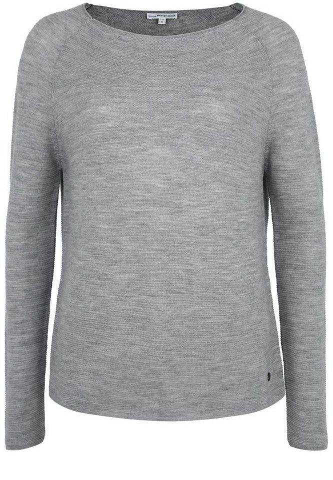Better Rich Strickpullover »MERINO CREW« in gray