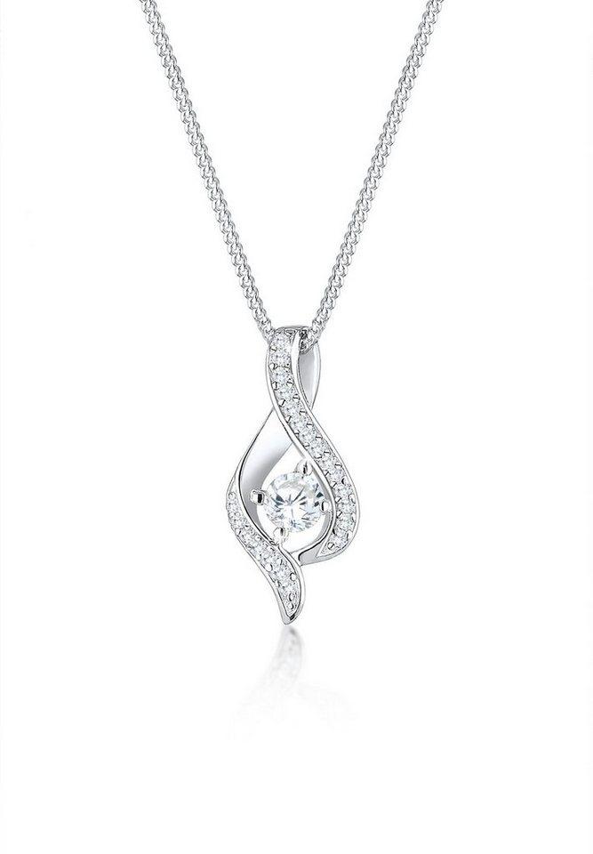 Elli Halskette »Infinity Talisman Zirkonia 925 Sterling Silber« in Weiß