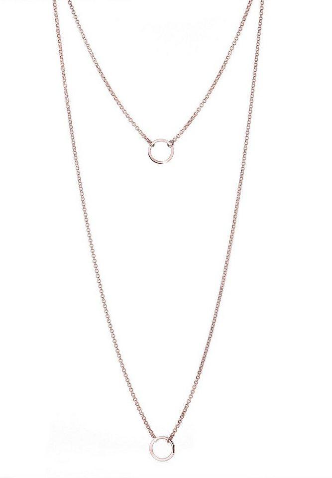 Elli Halskette »925 Sterling Silber Kreise Roségold« in Rosegold