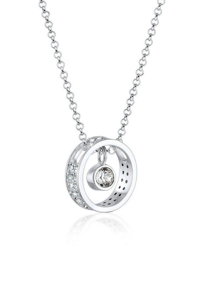 Elli Halskette »Anhänger Swarovski® Kristalle 925 Sterling Silber« in Weiß